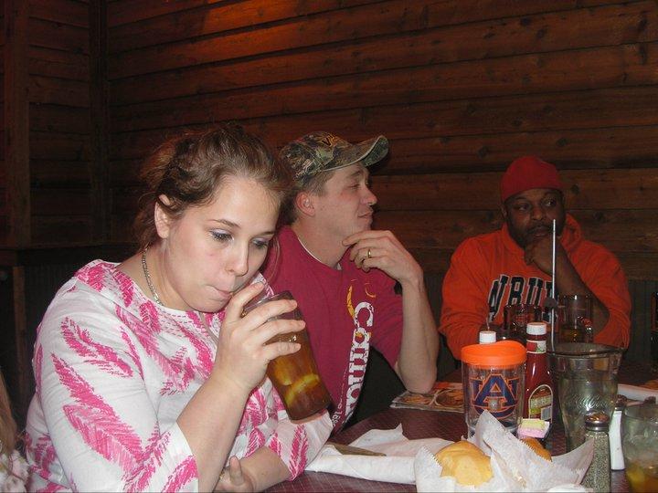 Zac Sledge's birthday dinner at Logan's Roadhouse
