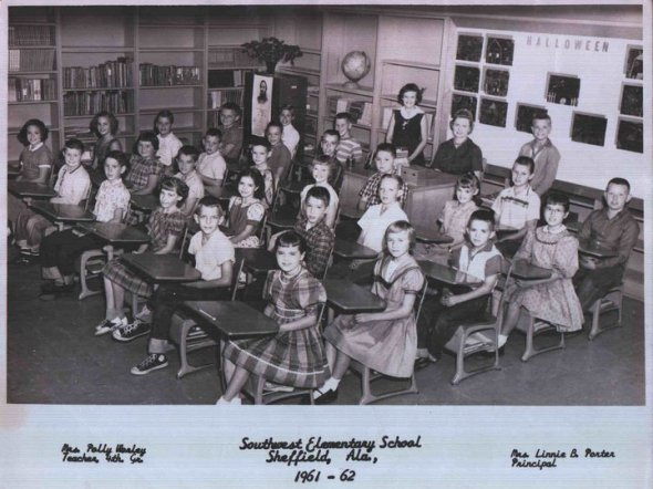 Polly Worley's fourth grade class 1961-62 at Southwest Elementary