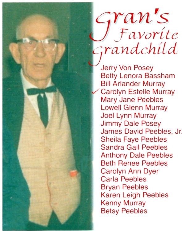 Gran's Favorite Grandhild