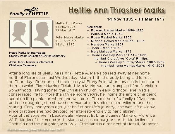 Hettie Ann Thrasher Marks