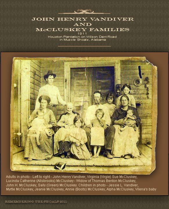 John Henry Vandiver Family
