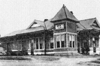 L & N Railway Station in Tuscumbia, Alabama