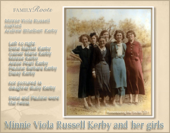 Minnie Viola Russell Kerby and Daughters