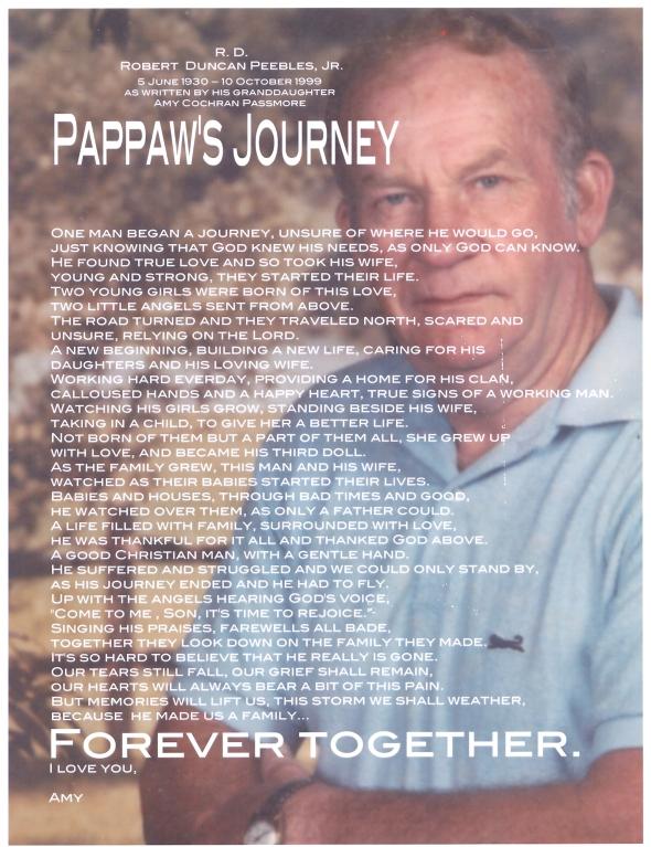 R D Peebles: Pappaw's Journey