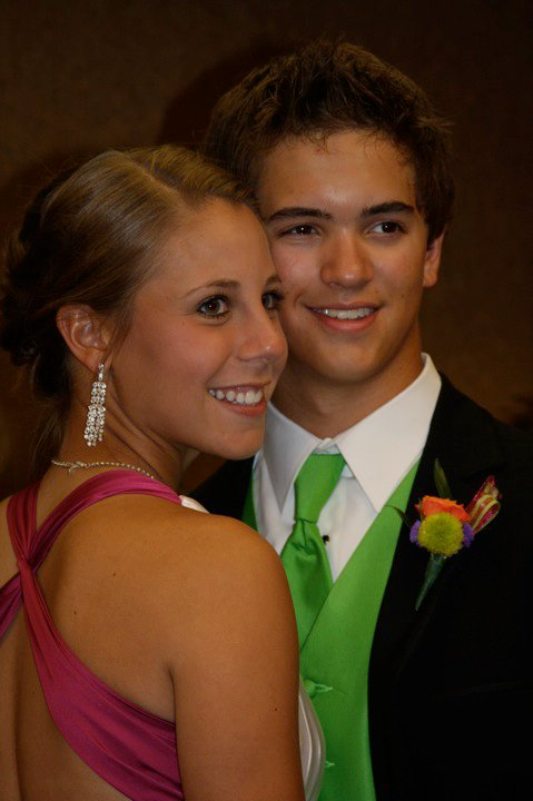 Rebecca Brocato and Cole Baker at 2010 prom