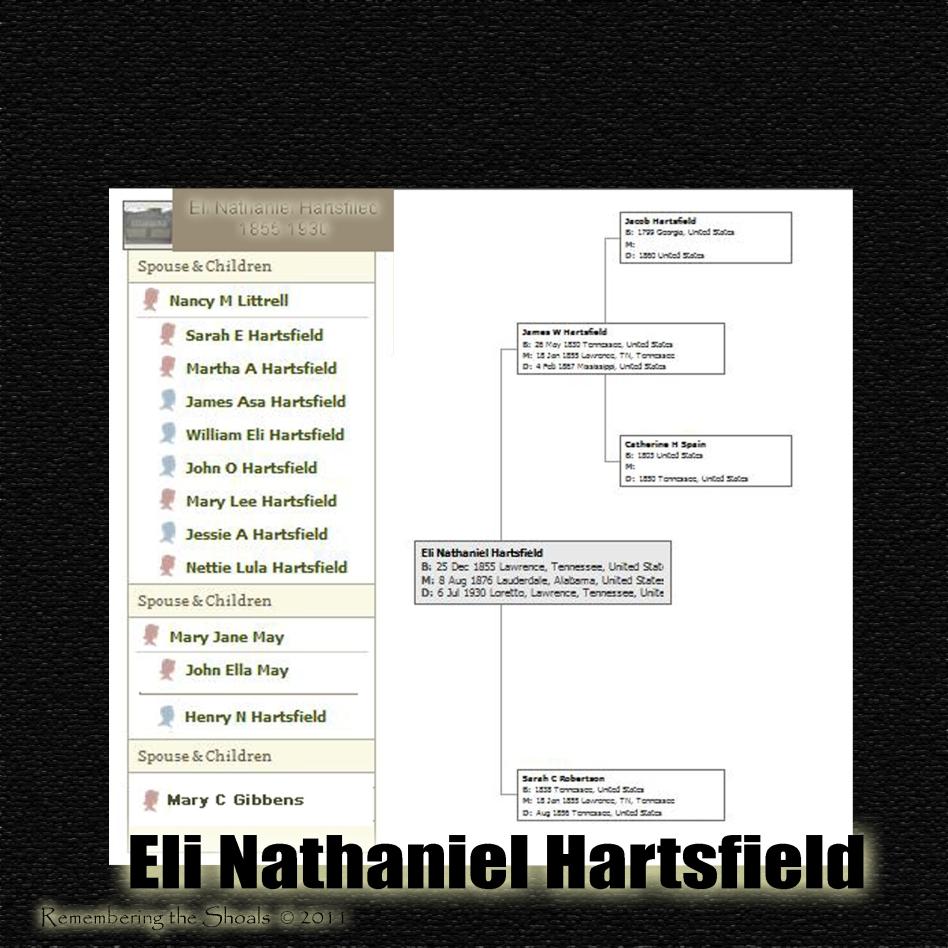 Eli Nathaniel Hartsfield and Family