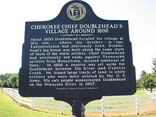 Historical Marker for Doublehead Reserve