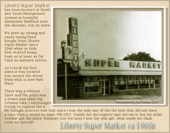 Liberty Super Market in Sheffield Alabama