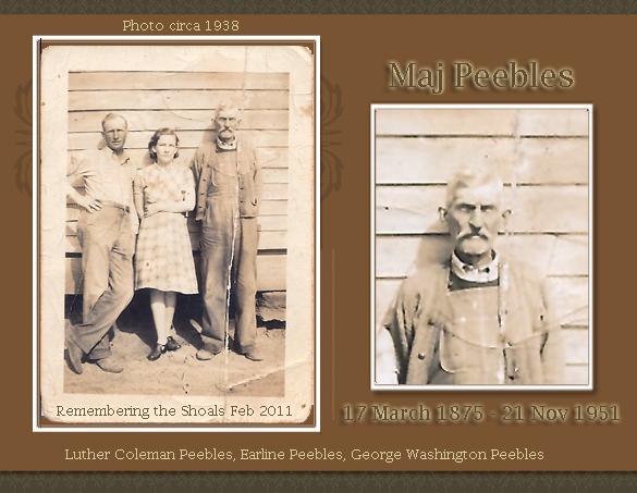 Maj Peebles, Luther Coleman Peebles, Earline Peebles