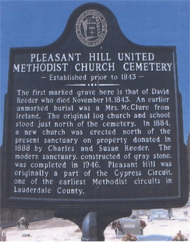 Historical Marker for Pleasant Hill United Methodist Church Cemetery