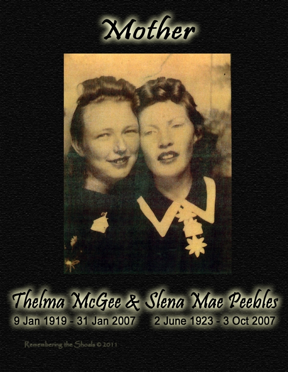 Thelma McGee and Slena Mae Peebles 1945