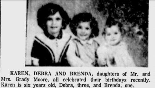 Moore daughters March birthdays