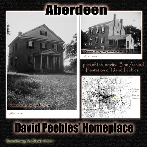Aberdeen - part of original plantation of David Peebles named Bon Accord