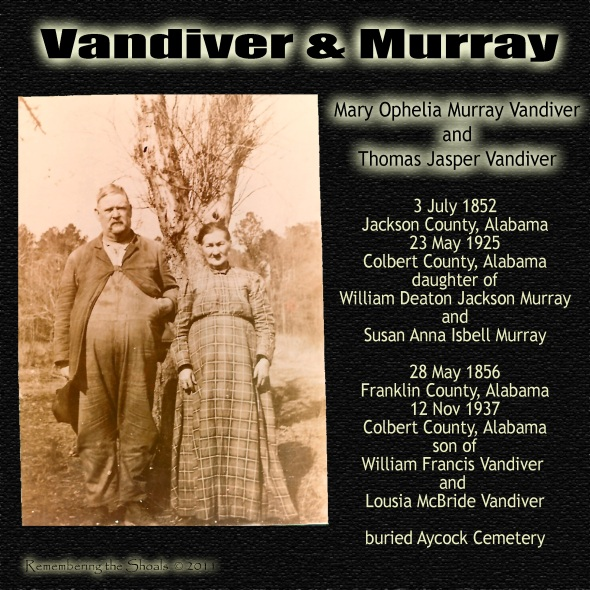 Mary Ophelia Murray Vandiver and Thomas Jasper Vandiver ca 1900