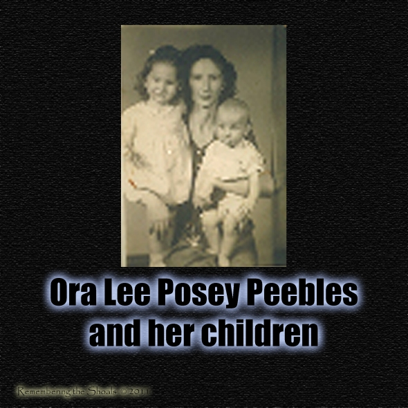 Ora Lee Posey Peebles and her children