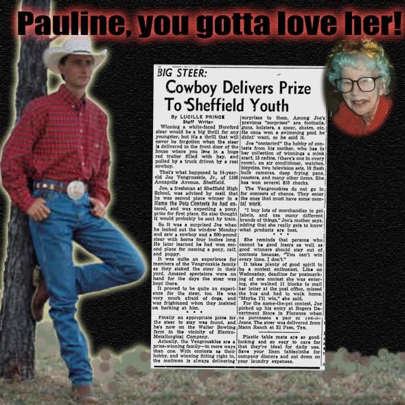 Pauline, you gotta love her!