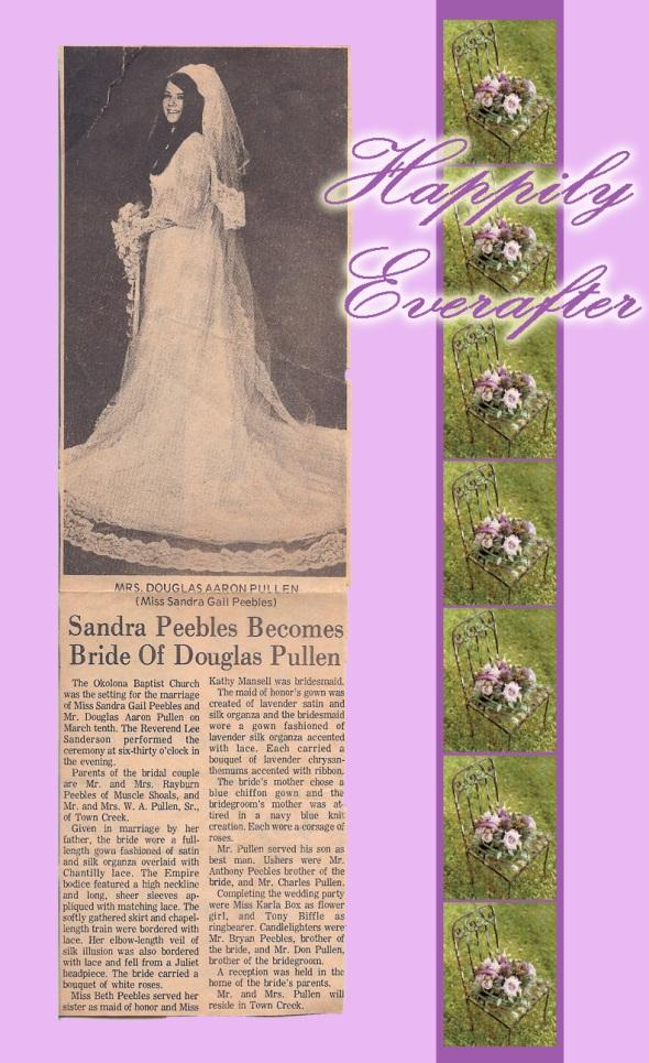 Sandra Gail Peebles Wedding Announcement