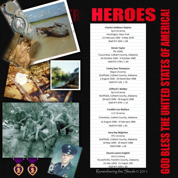Sheffield boys who were KIA during the Vietnam War: List 4