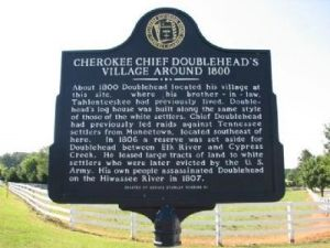 Village of Doublehead Reserve historical marker