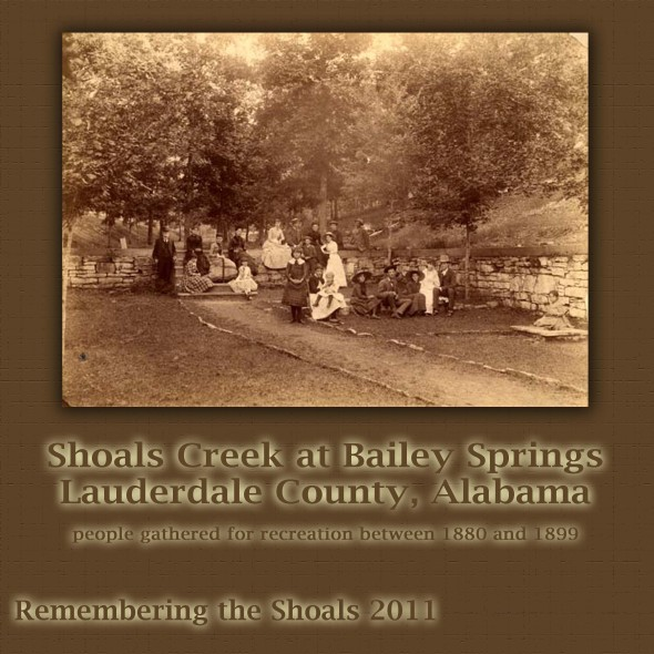 Photgraph on Shoals Creek at Bailey Springs in Lauderdale County AL 1880s
