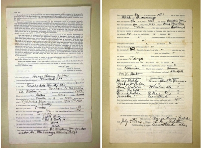 Images of the original Confederate Pension Files for George Henry Peebles