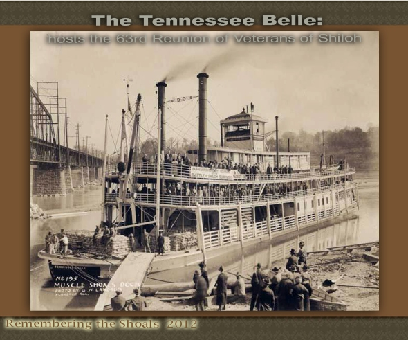 the boat that hosted the 63rd Reunion of the survivors of the Battle of Shiloh