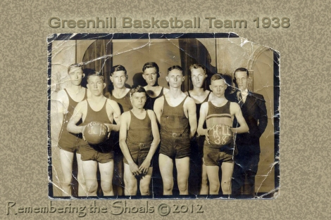 Photo of the Greenhill Alabama Basketball Team in 1938