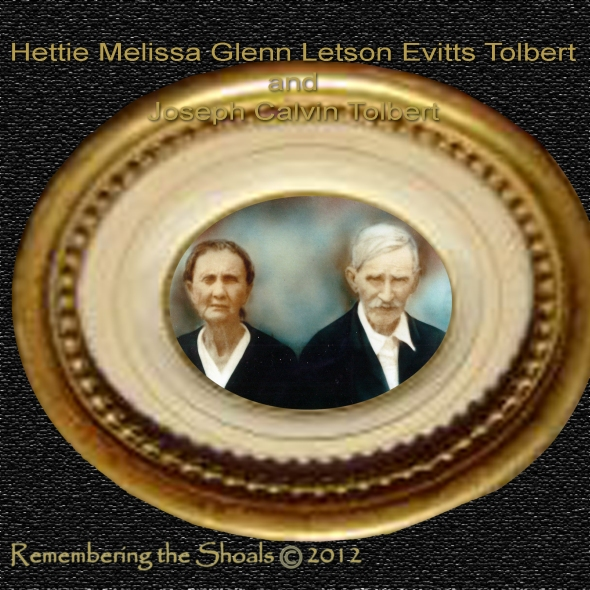Photo of Hettie Glenn Letson Evitts Tolbert and Joseph Calvin Tolbert