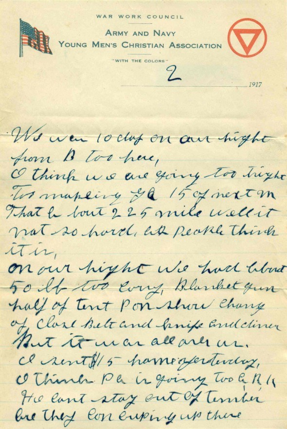 22 July 1917 Letter 1 page 2