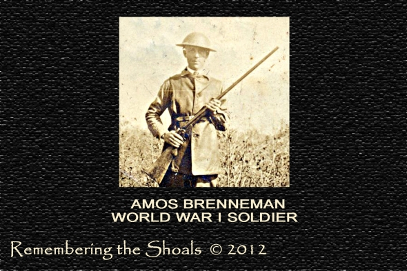 photo of Amos Brenneman from Sheffield, Alabama, World War I soldier
