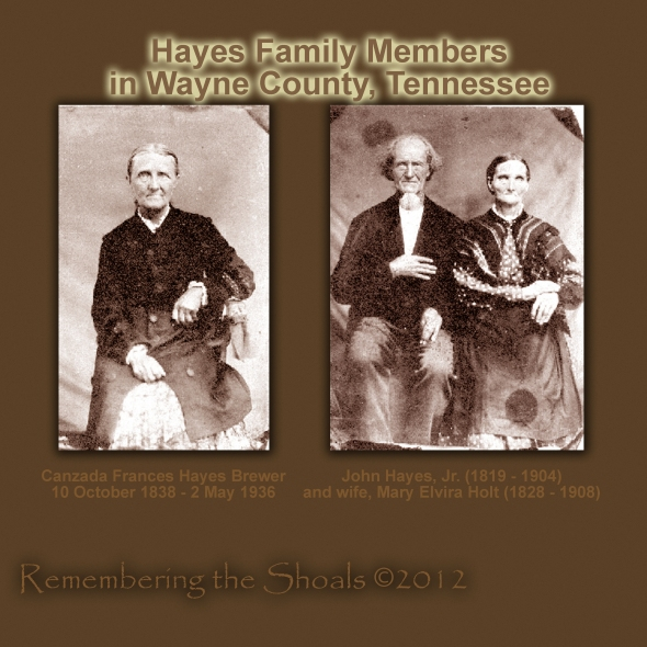 Photo of Hayes family in Wayne County, Tennessee circa 1860
