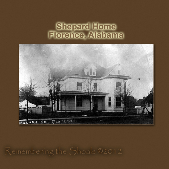photo of the Shepard Home on Walnut Street in Florence Alabama