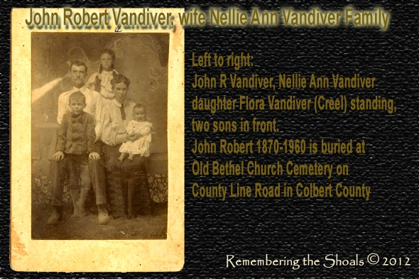 Photo of John Robert Vandiver and family