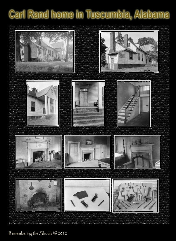 Photos of Carl Rand home in Tuscumbia, Alabama
