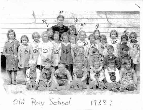 Old Ray School class of circa 1938