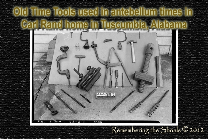 Carl Rand home in Tuscumbia houses old timey tools