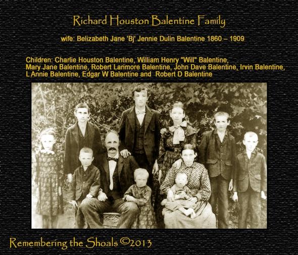 Photo of the Richard Houston Balentine  family