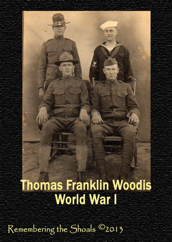 Photo of Thomas Franklin Woodis in Army during World War I