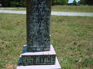 Photo of the gravemarker for Pink Prentiss Prentice