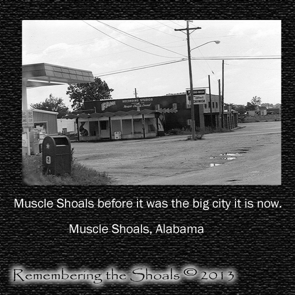 Photo of Muscle Shoals, Alabama decades ago.