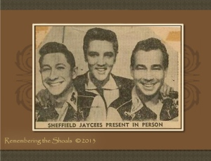 Newspaper ad for Elvis concert in Sheffield AL in 1959