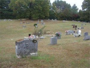 Photo of gravemarker for Riley and Clemmie Vandiver
