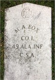 Photo of Milton Asbury Box's grave marker