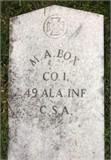 Photo of Milton Asbury Box's grave marker