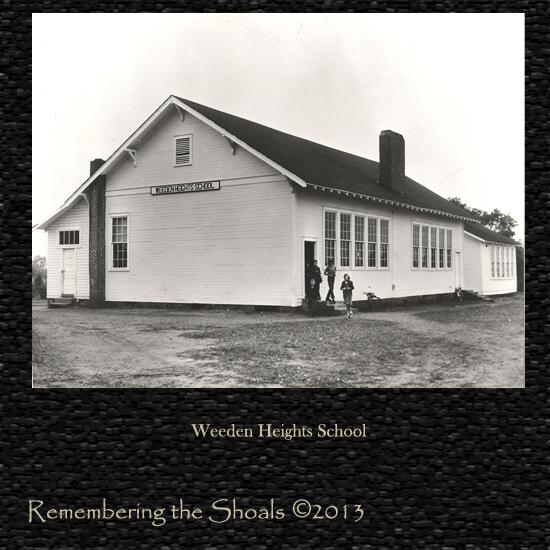 old photo of Weeden Heights School in Florence AL