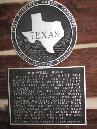 Birdwell House historical marker