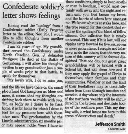 confederate letter