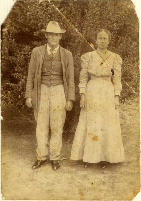 James Henry Vandiver and his wife Nancy Emma Pennington