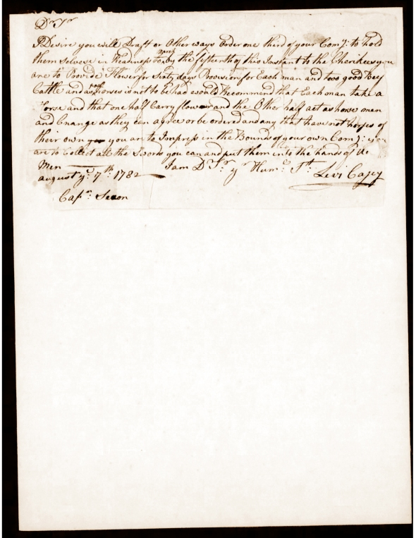 Official Orders 7 Aug 1782