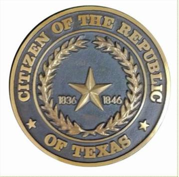 Citizen medallion Republic of Texas